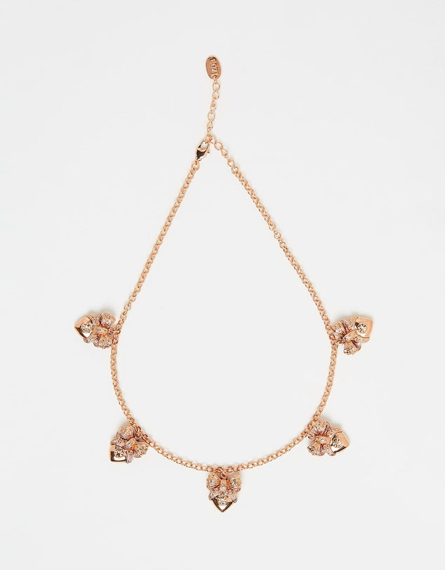 Izoa Hearts Necklace Rose Gold