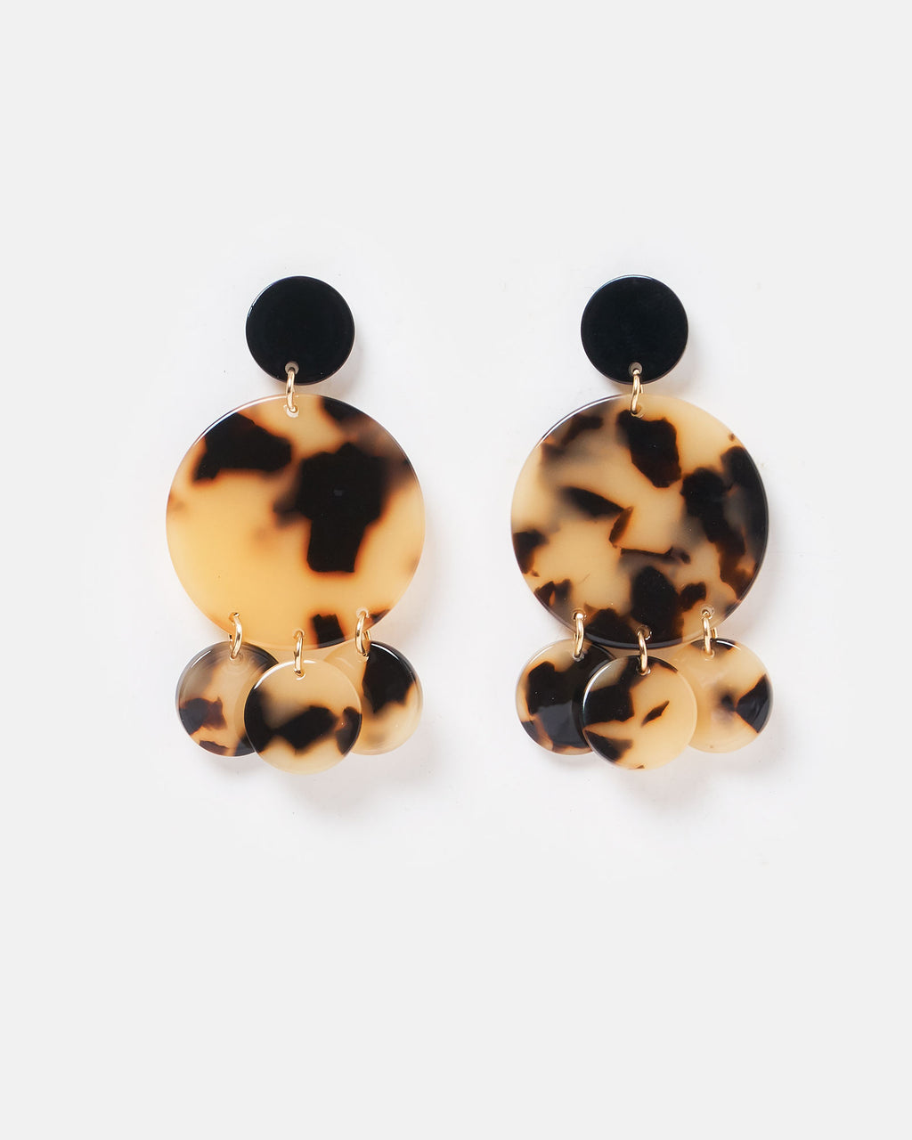 Izoa Helios Earrings White Tortoise Shell