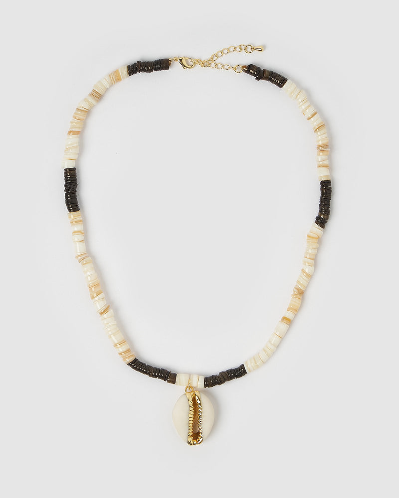 Miz Casa & Co Haika Shell Necklace Gold