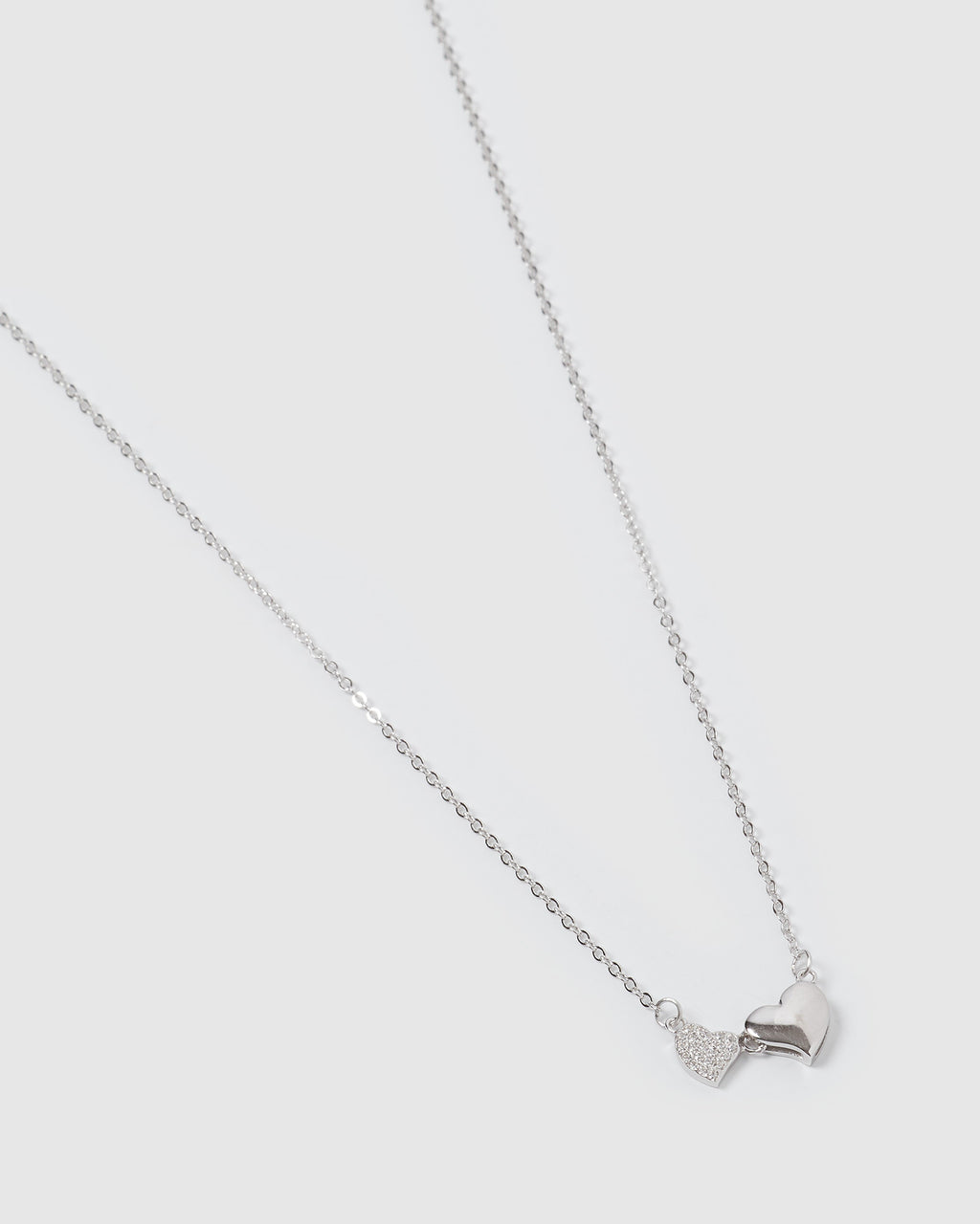 Izoa Kids Hearts Necklace Sterling Silver