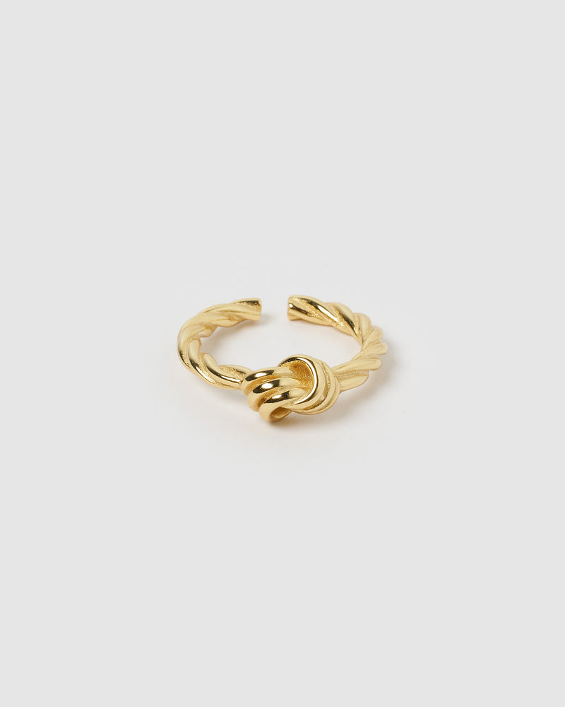 Izoa Annabelle Knot Ring Gold