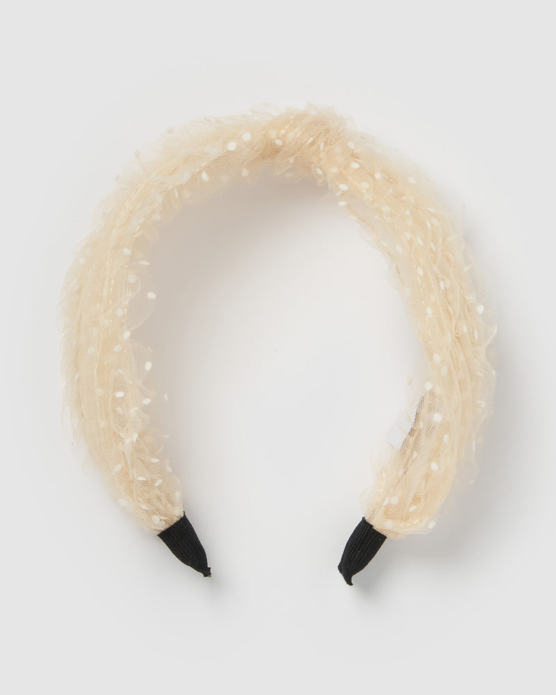 Izoa Adaline Headband Cream