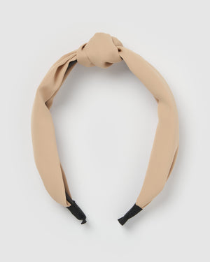 Izoa Dakota Headband Nude