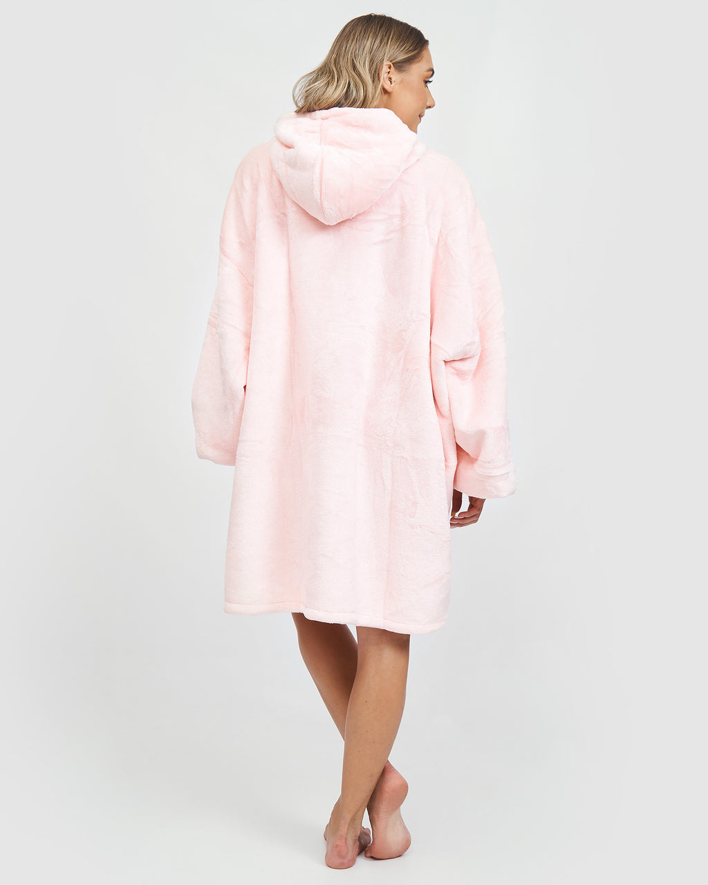 Miz Casa & Co Luxury Hooded Blanket Pink
