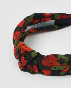 Izoa Prairie Headband Black/Red