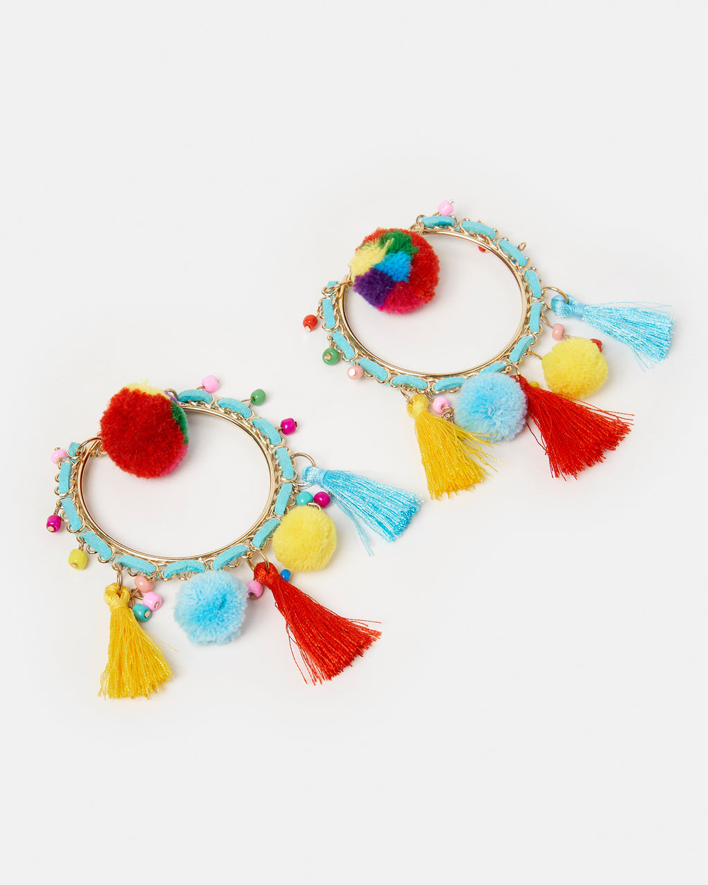 Izoa Fiesta Hoop Earrings Multi Colour