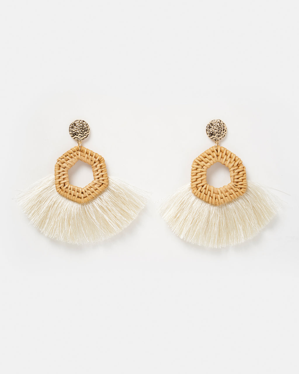 Izoa Indigo Earrings Beige