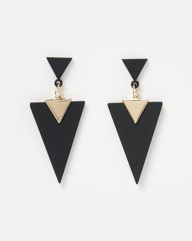 Izoa Mirrors Earrings Black