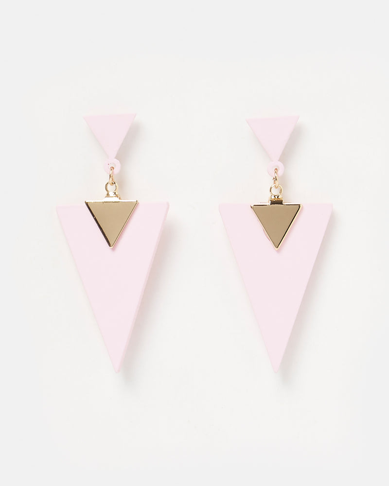Izoa Mirrors Earrings Pink