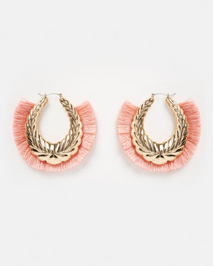 Izoa Conquesto Earrings Pink