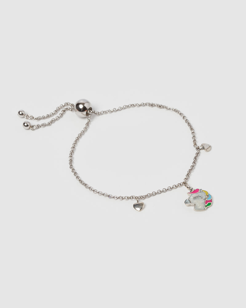 Izoa Kids Unicorn Bracelet Sterling Silver