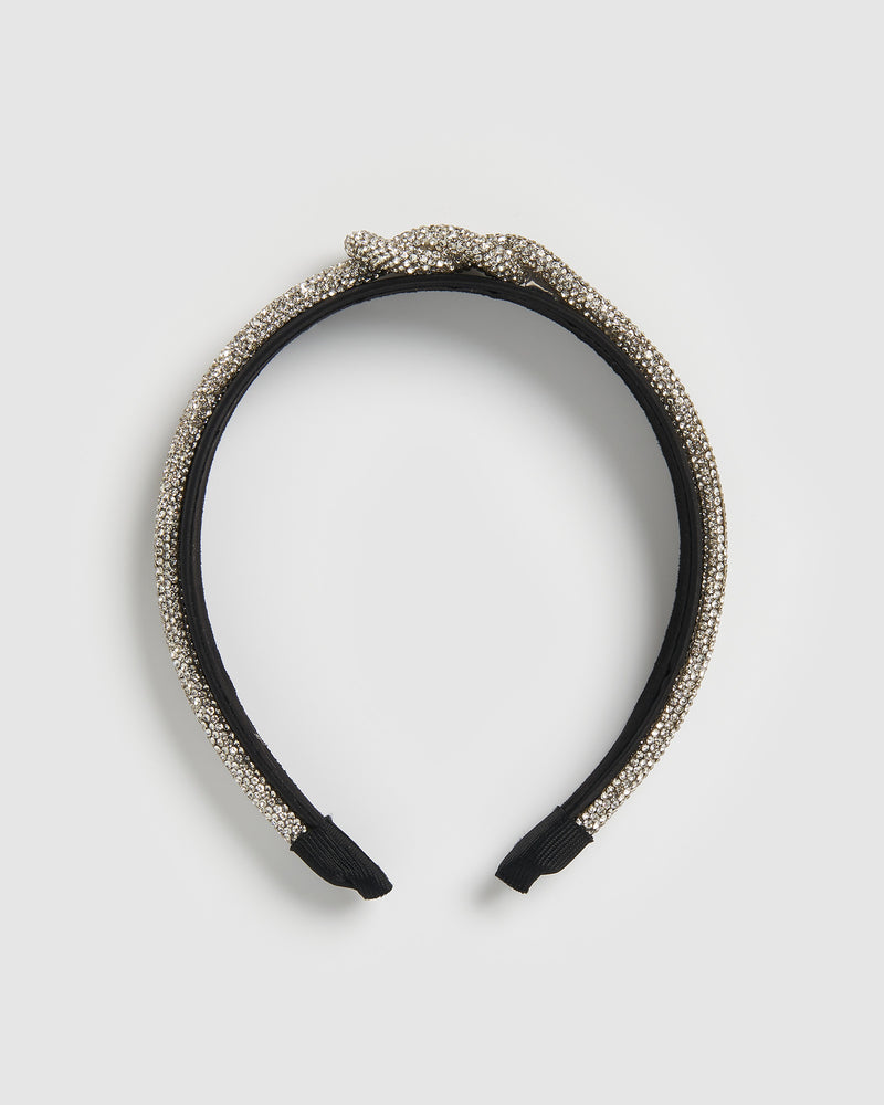 Izoa Madonna Headband Black Diamonte