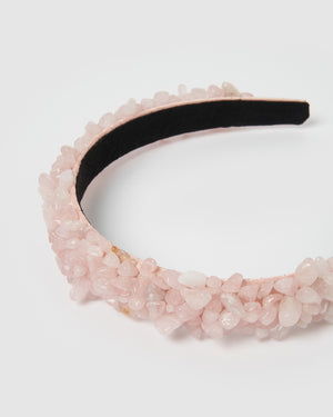 Miz Casa & Co Island Stone Headband Rose Quartz