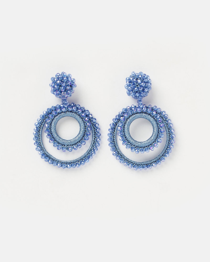 Izoa Gemstone Earrings Blue