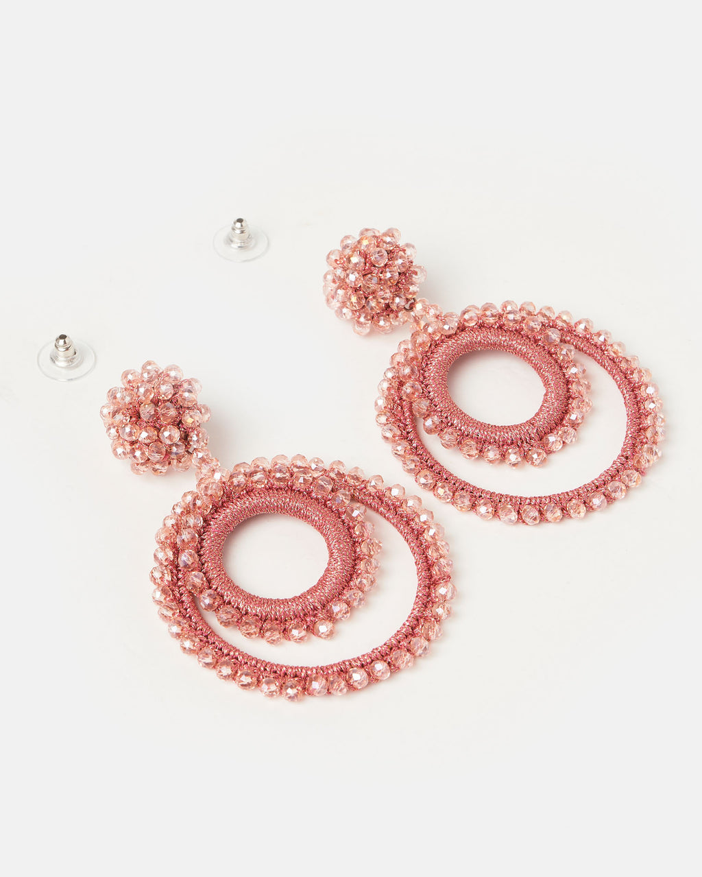 Izoa Gemstone Earrings Pink