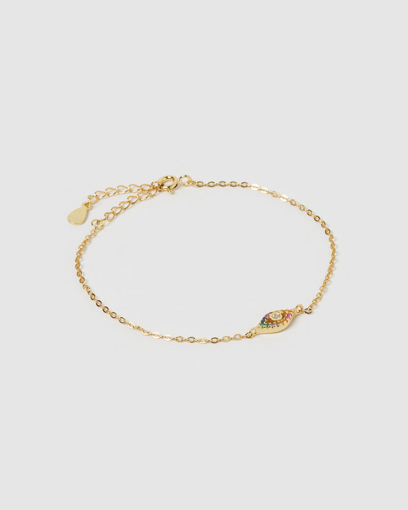 Izoa Mackay Eye Bracelet Gold Multi
