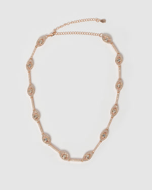 Izoa Izmir Eye Choker in Rose Gold