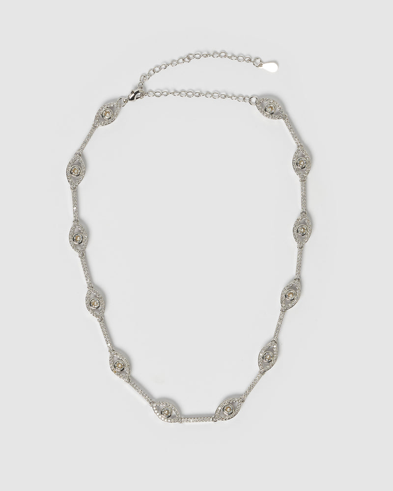 Izoa Izmir Eye Choker in Silver