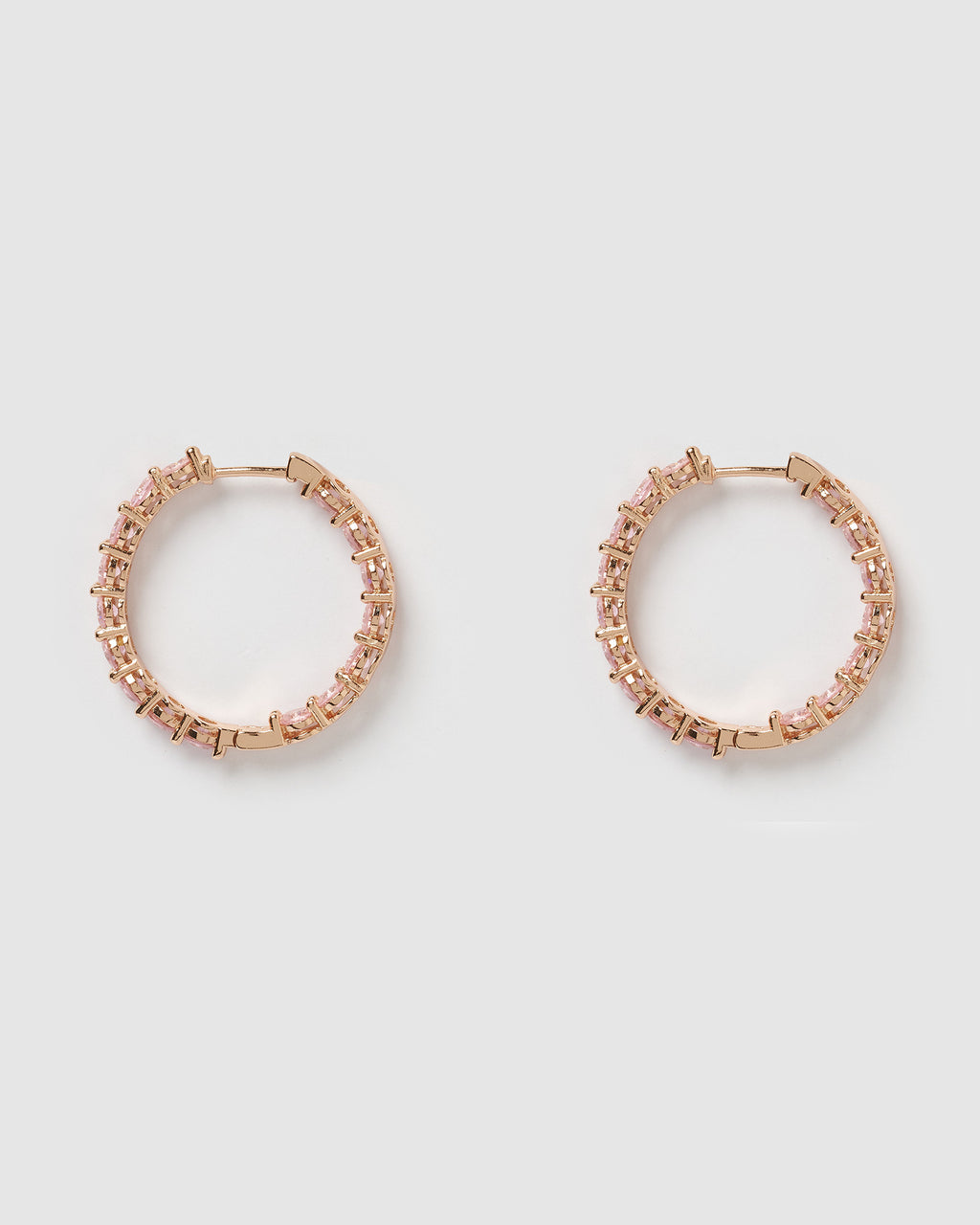 Izoa Jennifer Hoop Earrings Pink