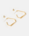 Izoa Replicate Earrings Gold