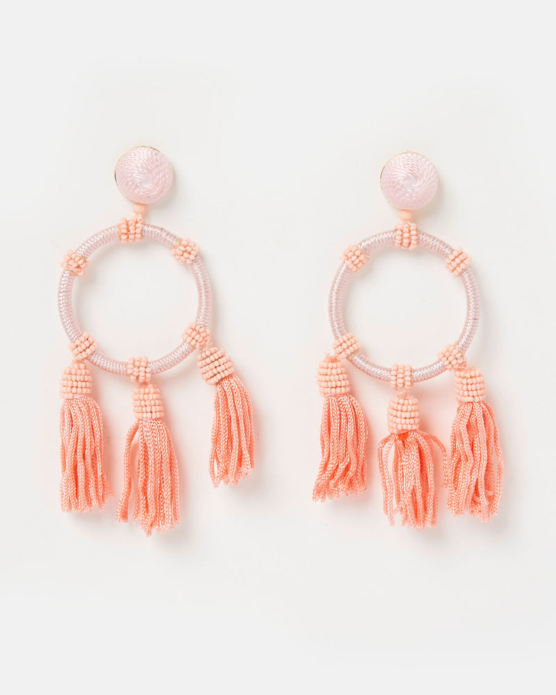 Izoa Juliana Earrings Pink