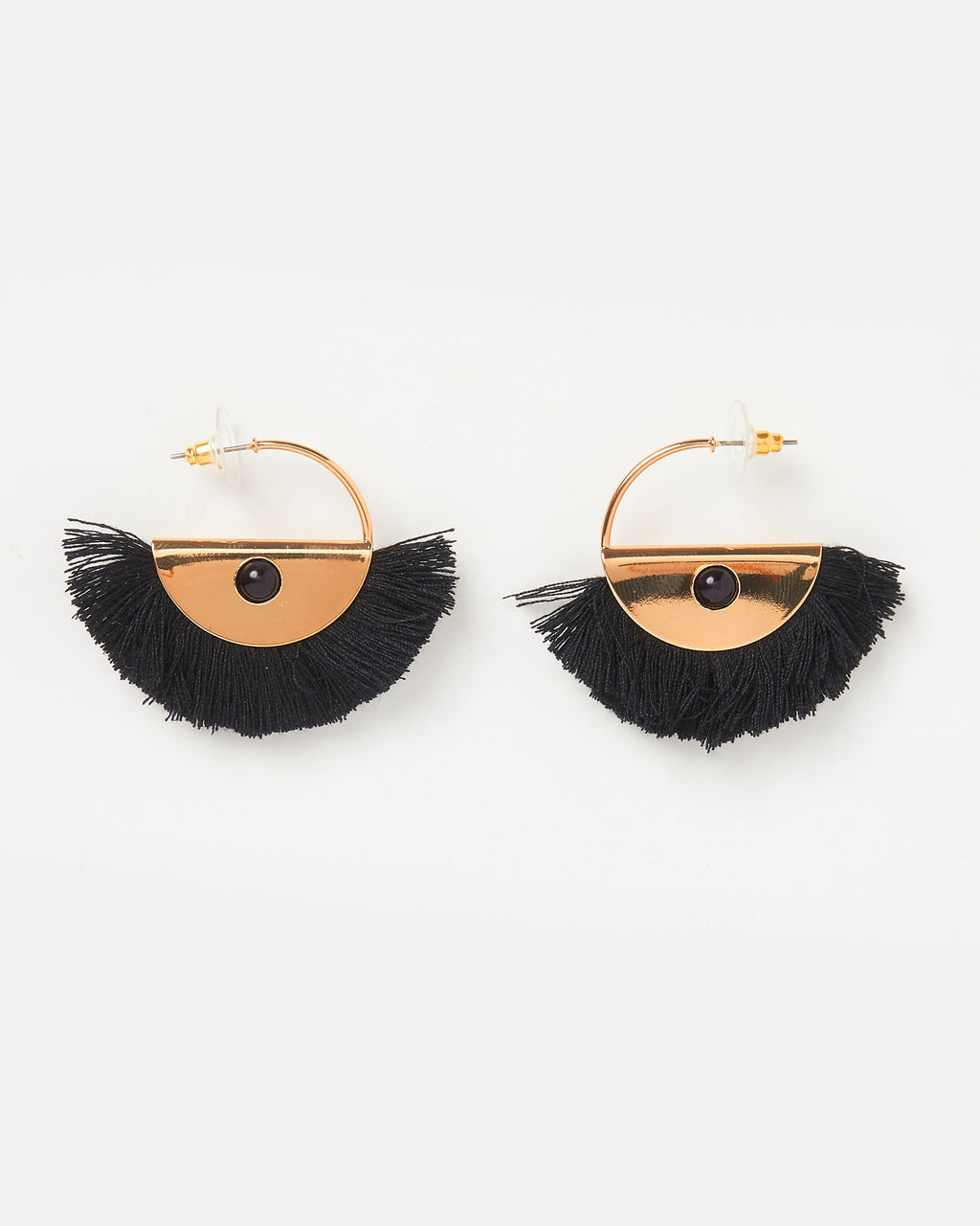 Izoa Luciana Earrings Black