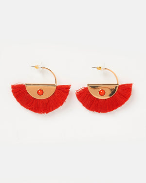 Izoa Luciana Earrings Red