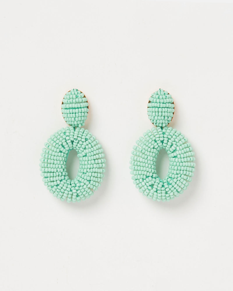 Izoa Florido Earrings Mint