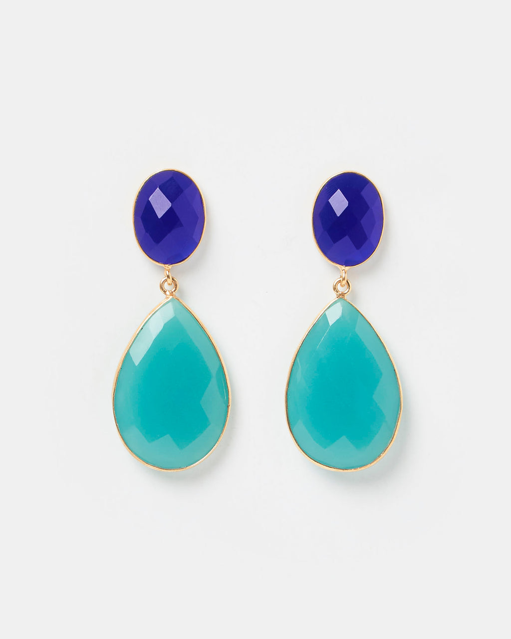 Izoa Lasting Fate Earrings Blue Green