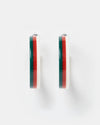 Izoa Tango Hoop Earrings Multi Stripe