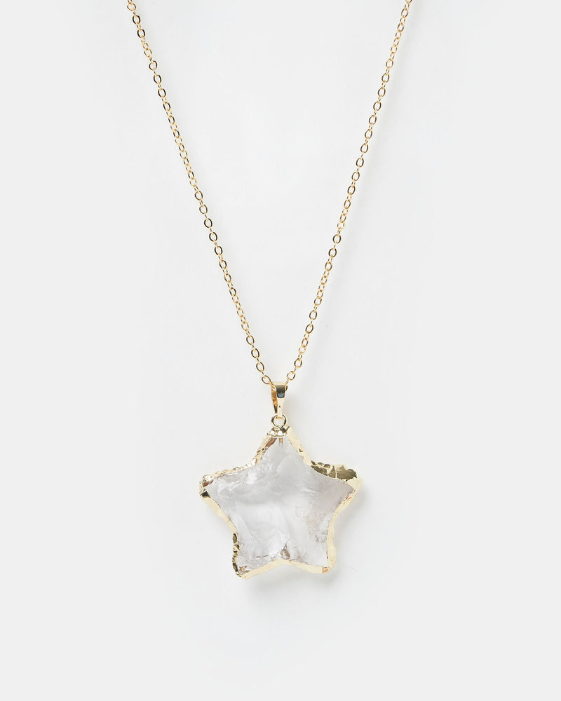 Miz Casa & Co Starfish Necklace Gold