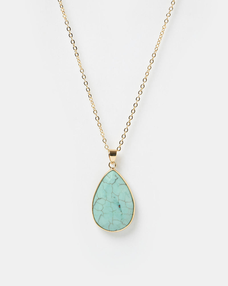 Miz Casa & Co Tidal Pool Necklace Turquoise