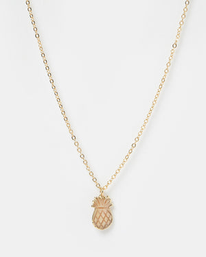 Miz Casa & Co Pineapple Charm Necklace Gold