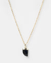 Miz Casa & Co Stone Charm Necklace Gold Black