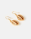 Miz Casa & Co Cowrie Kiss Earrings Gold