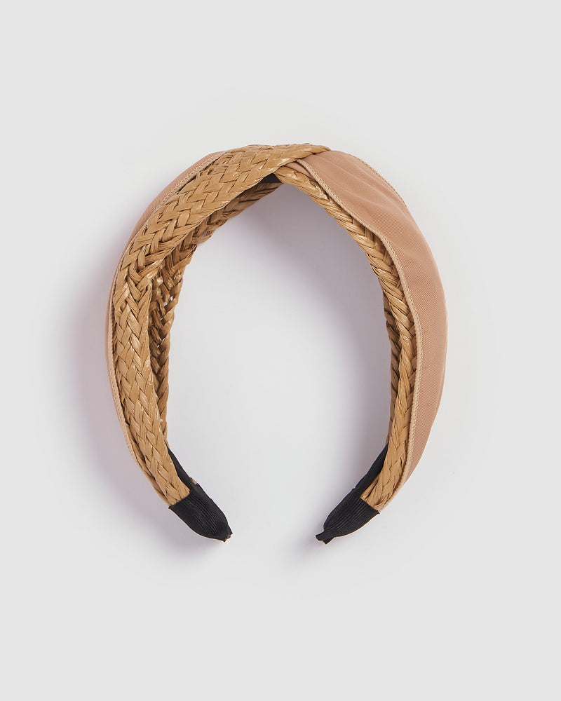 Izoa Hamilton Headband Natural Nude