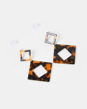 Izoa Elemental Earrings Tortoise Shell