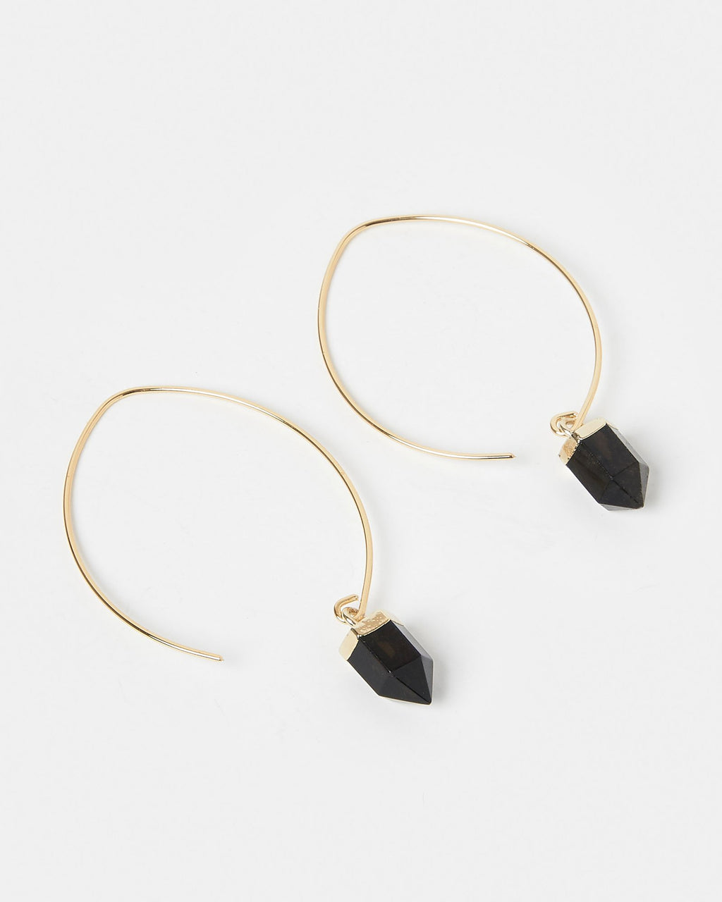 Miz Casa & Co Wanderer Earrings Gold Black