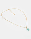 Miz Casa & Co Stone Charm Necklace Gold Turquoise
