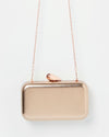 Izoa Ariel Clutch Rose Gold