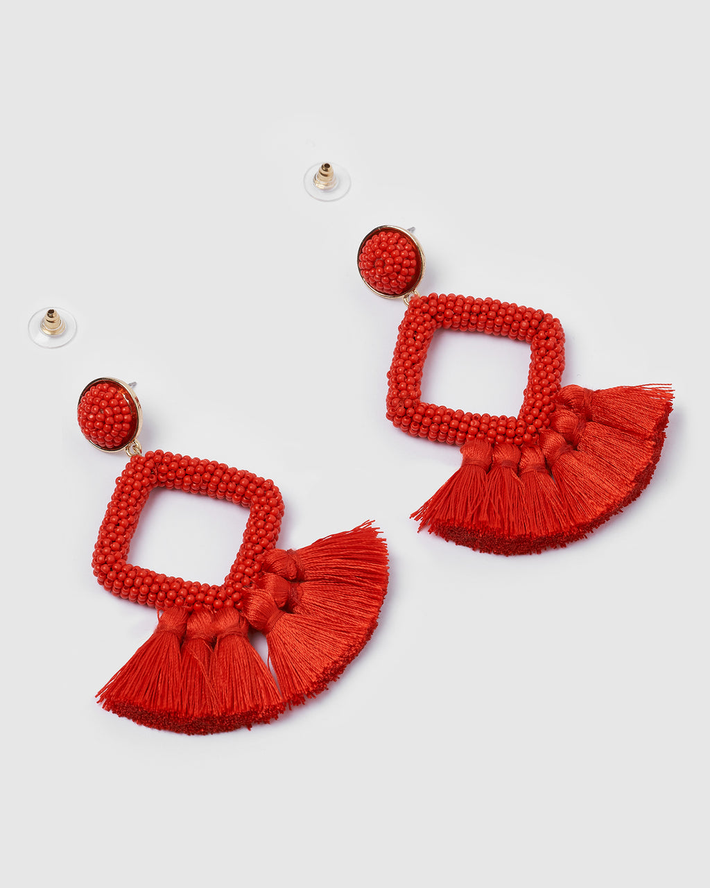 Izoa Soul Earrings Red