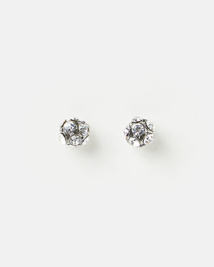 Izoa Girls Best Friend Stud Earrings Silver