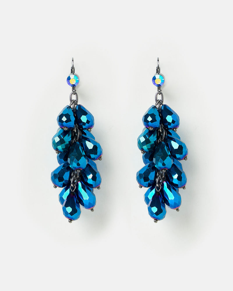 Izoa Opulence Earrings Blue