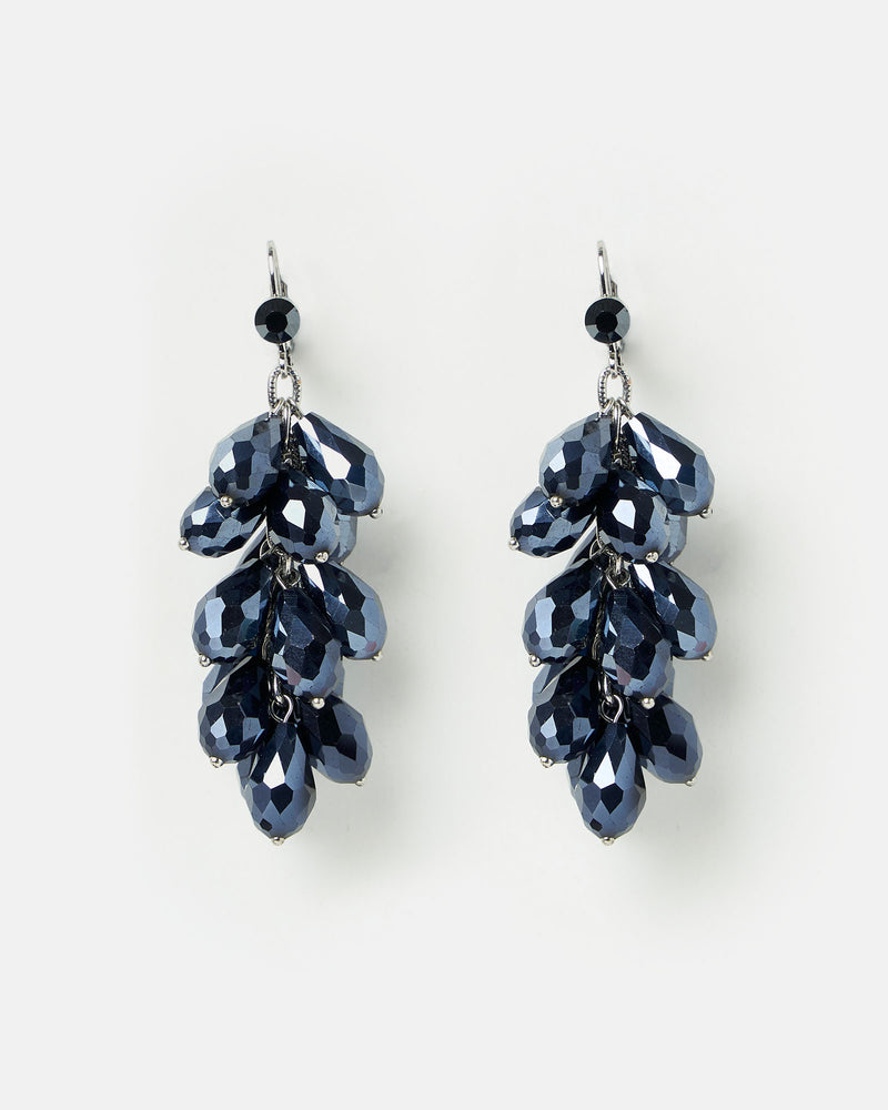 Izoa Opulence Earrings Hematite