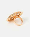 Izoa Set Sail Ring Rose Gold White