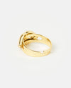 Izoa Lips Ring Gold Nude