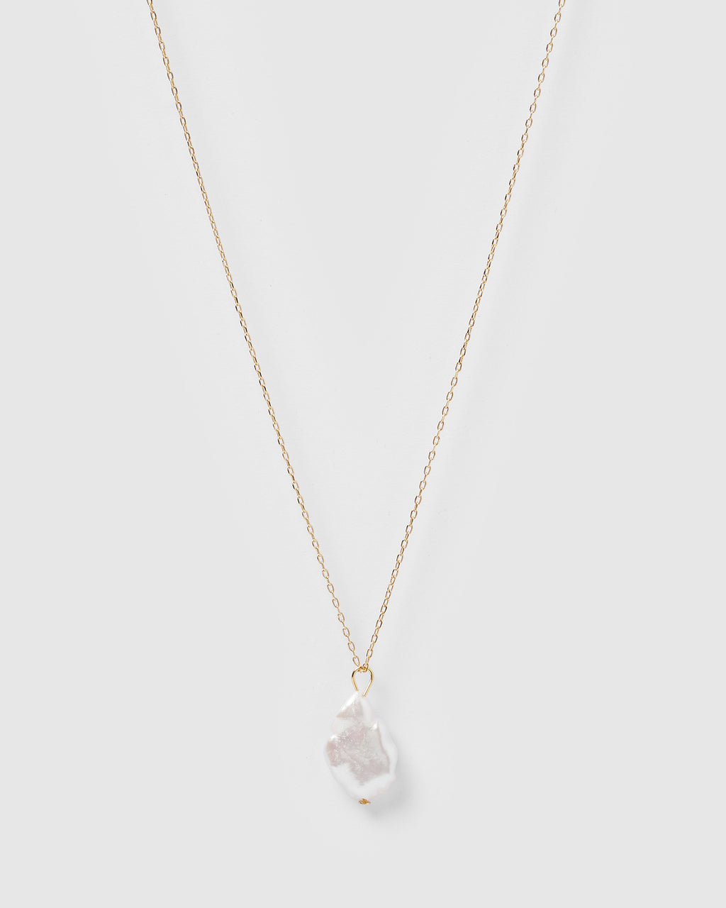 Izoa Opal Necklace in Gold Freshwater Pearl