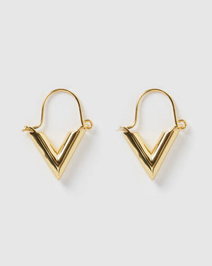 Izoa Icon Earrings Gold
