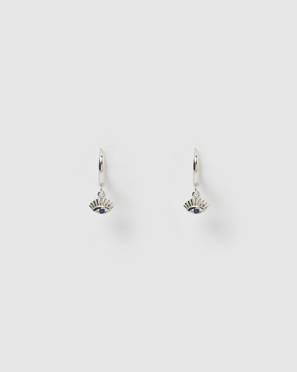 Izoa Ira Huggie Earrings Silver