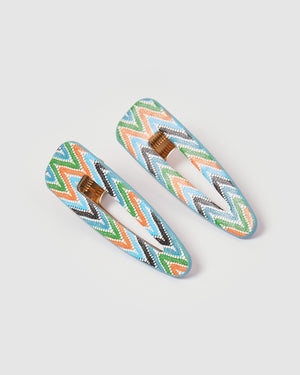 Izoa Aztec Hair Clip Set Hair Clip Set Multi
